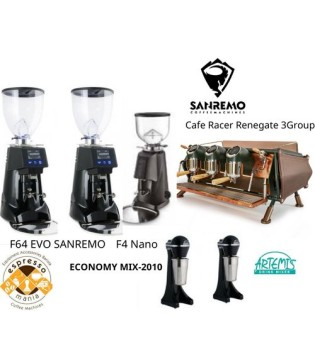 CAFE RACER RENEGATE 3GR SET UP 2 SR OD 64 EVO +1SR OD 54 +2ARTEMIS MIXER FRAPE