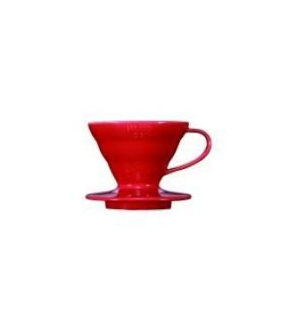 HARIO COFFEE DRIPPER V60 01 CERAMIC RED