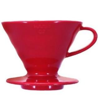 HARIO COFFEE DRIPPER V60 02 CERAMIC RED
