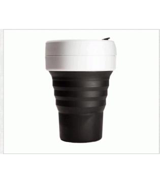STOJO COLLAPSABLE POCKET CUP - 12OZ BLACK