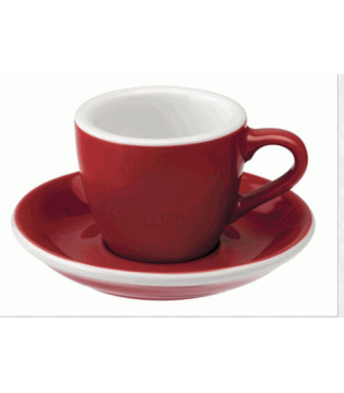LOVERAMICS ESPRESSO CUP 80ML/3OZ EGG - RED