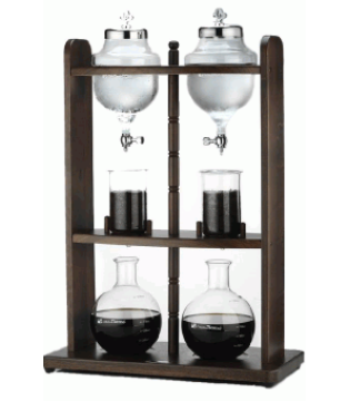 TIAMO EUROPE COLD WATER COFFE DRIPPER 20 CUP ΞΥΛΙΝΟΣ ΔΙΠΛΟΣ ΠΥΡΓΟΣ